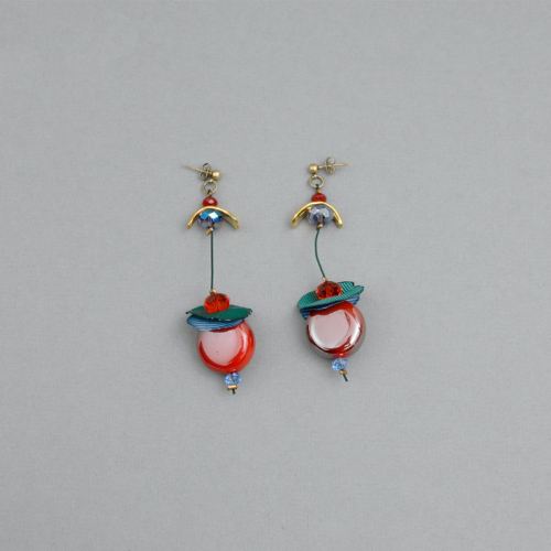 Handmade earrings with cermic beads