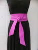 Hot Pink Bright Fuchsia Handmade Leather Obi Sash Wrap Tie Belt