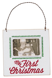 My First Christmas Wall Plaque / Easel Photo Frame