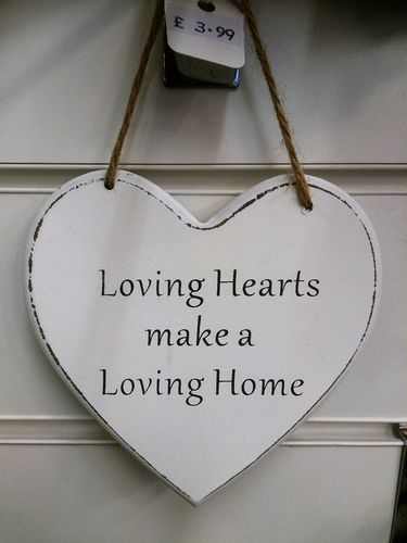 Loving Hearts make a Loving Home Wall Plaque