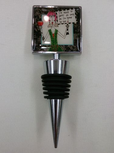 "Wine Stopper ""Ready to Party"""