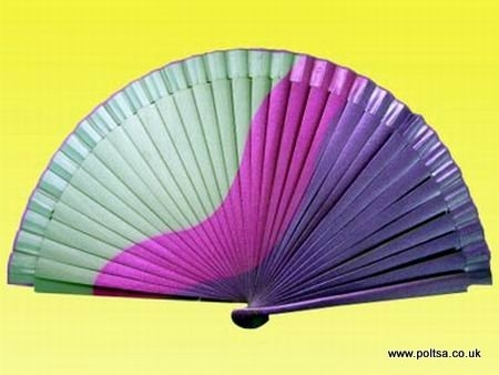 Purple and Silver Spanish Fan