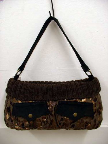 112fe0fad4b3 Brown Gold Animal Print Handbag SALE CLEARANCE REDUCED