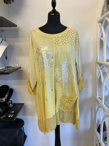 Yellow Tunic with Pocket