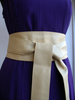 Cream Ivory Handmade Leather Obi Sash Wrap Tie Belt