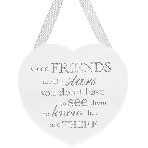 Good Friends Are Like Stars...Heart Shabby Chic Plaque