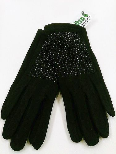 Black Sequined Ladies Gloves