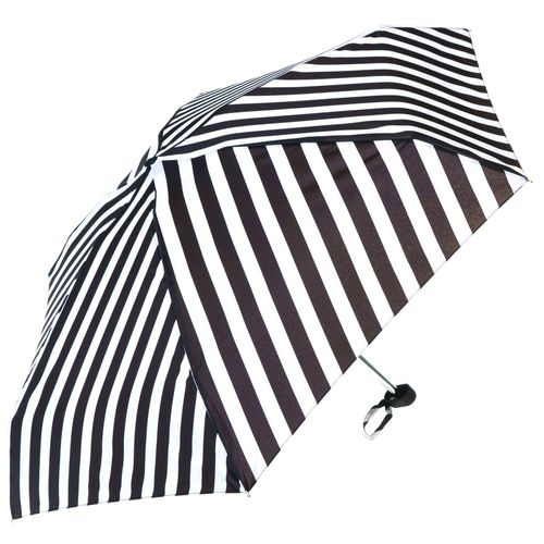Monochrome Strips Ladies Mini Compact Umbrella