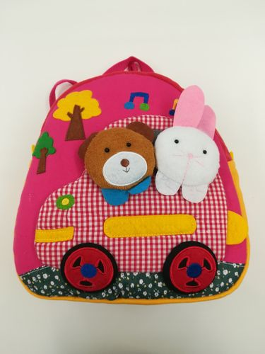 Backpack for Children, Kids Rucksack - Bunny and Teddy