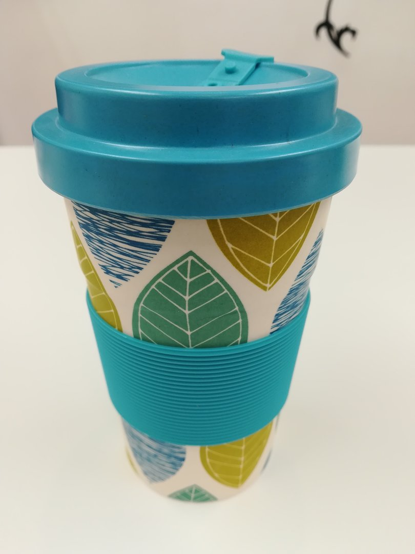 Eco-friendly Reusable Bamboo Travel Cup - Blue