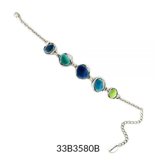 Abstract Enamel Bracelet - Turquoise