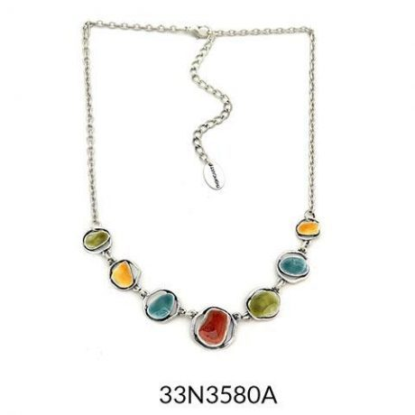 Abstract Enamel Necklace - Multicolour