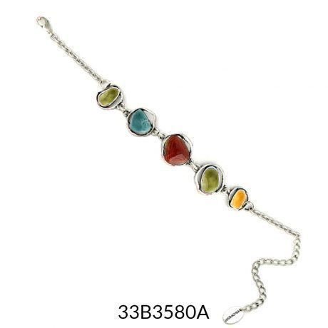 Abstract Enamel Bracelet - Multicolour