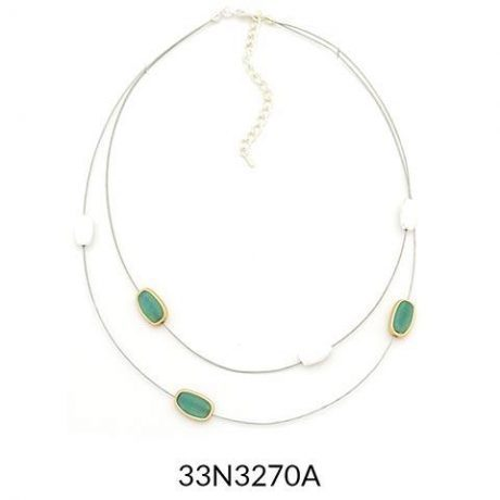 Delicate Two Strand Wire Necklace
