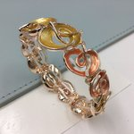 Stretchy Bracelet Rose Gold and Orange