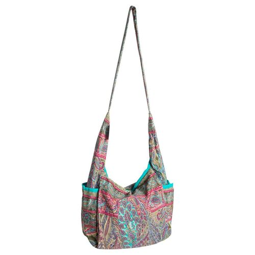 Lightweight Summer Bag with Paisley Print and Side Pockets