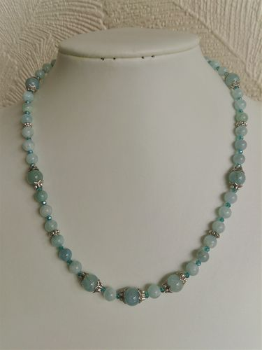 Aquamarine and Crystal Necklace