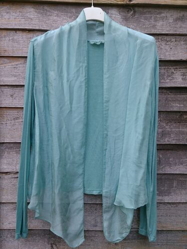 See Green Turquoise Shrug