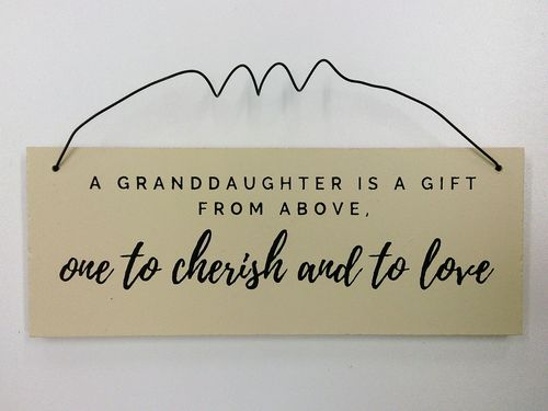 Granddaughter Wall Plaque