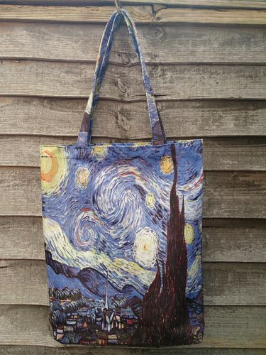 Starry Night Print Tote Bag