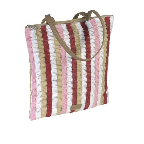 Stripy Summer Tote - Red