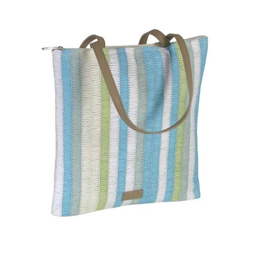 Stripy Summer Tote - Turquoise