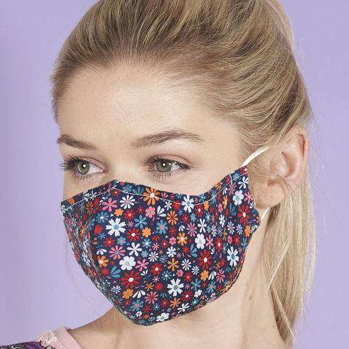 Reusable Face Mask Ditsy Flowers