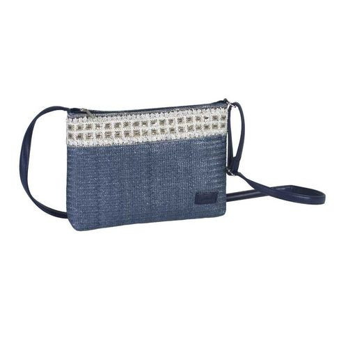 Blue Cross Body Sequined Summer Bag