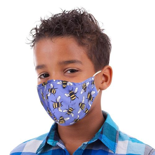 Children's Reusable Face Mask Bees