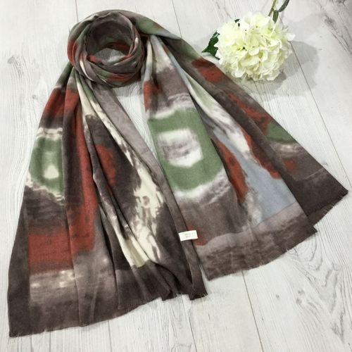 Soft Winter Scarf in Earthy Colours