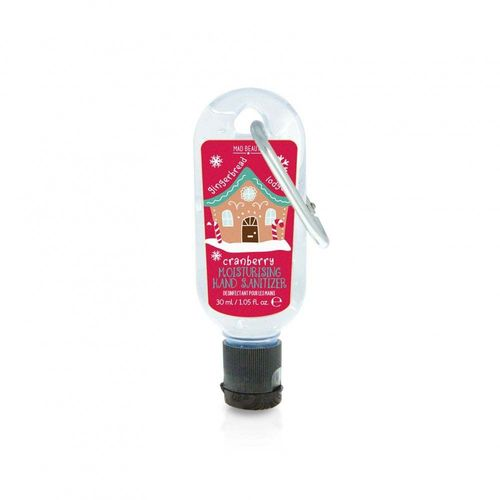 Clip On Hand Sanitizer - Gingerbread House
