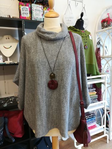 Cowl Neck Wide Batwing Jumper