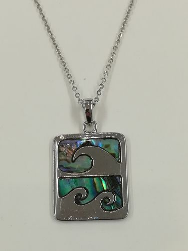 Sea Wave Pendant, Abalone Shell Wave Crest Pendant