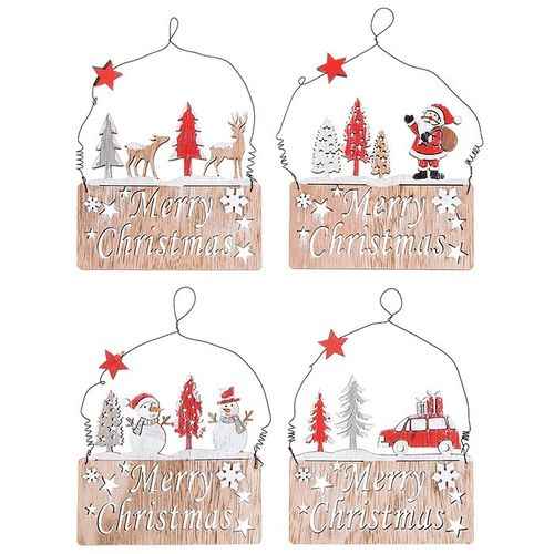 Laser Cut Christmas Hanging Decoration