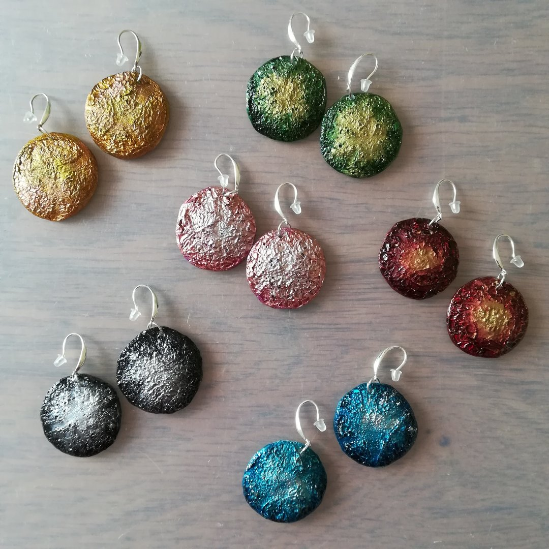 Upcycled CD Drop Earrings